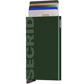 Secrid Cardprotector Laser Logo Green - Korthållare
