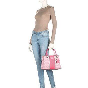 Guess Cathleen 4G Mellanstor Handväska Rosa