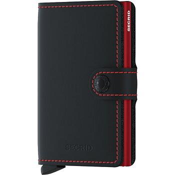 Secrid Miniwallet Matte Black & Red Skinnplånbok