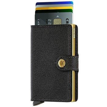 Secrid Miniwallet Crisple Black Gold Skinnplånbok