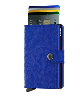 Secrid Miniwallet Crisple Blue Black Skinnplånbok