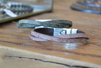 Läderarmband Infinity