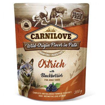 Dog Pouch Paté Ostrich With Blackberries 300g - Carnilove