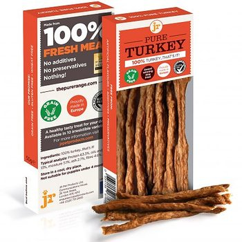 Hundgodis Pure Kalkon Sticks 50 gram