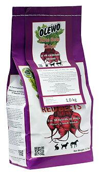 Kosttillskott/Extra foder Rödbetschips 1kg - OLEWO