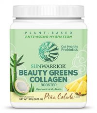 Sunwarrior Beauty Greens Collagen Booster Pina colada 300 g