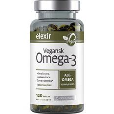 Elexir Pharma Vegansk Omega-3, 120 kapslar