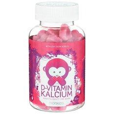Monkids D-vitamin + Kalcium 60 st