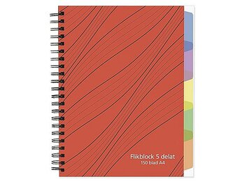 Ant.bok A4 70g 150 blad med 5 avdelare