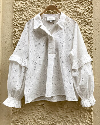 Fringe Blouse White from Munthe