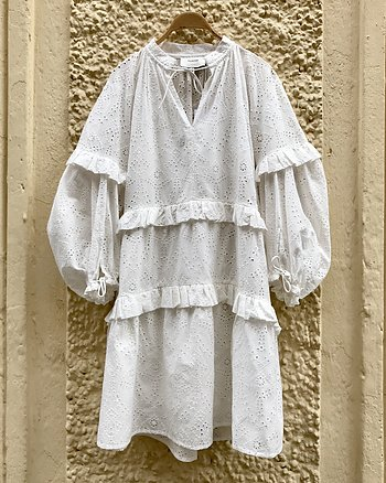 Frilly Dress White from Munthe