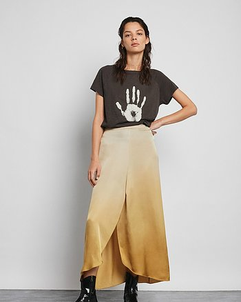 Ima Fade tulip skirt Gold from Rabens Saloner