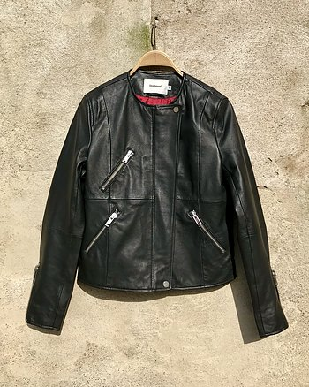Wren leatherjacket Black from Deadwood