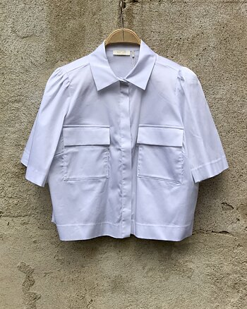 Pollie Shirt White from Notes du Nord