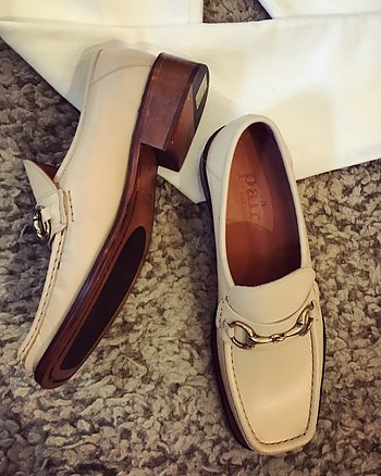 Creme Buckle Loafer from Apair