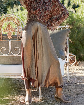 Baci Skirt Nude from Mes Demoiselles