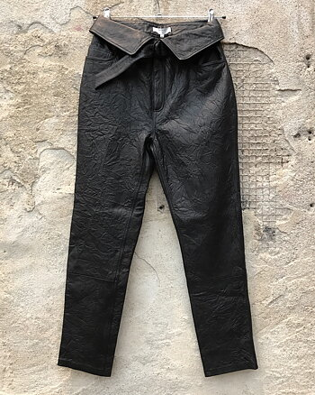 Zola Black Leather pant from Dante6.