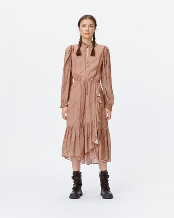 Ludvig dress brown from Munthe