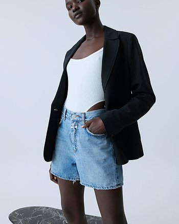 Azra Denim Shorts Mid Blue from Closed