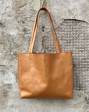 Big leather bag Cognac from Été Été