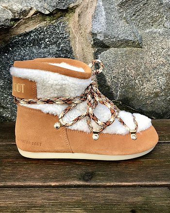 Sherling Whisky/Off White Classic från Moon Boot