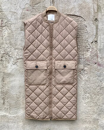 Alberte Quilt Vest Sand from Co'couture