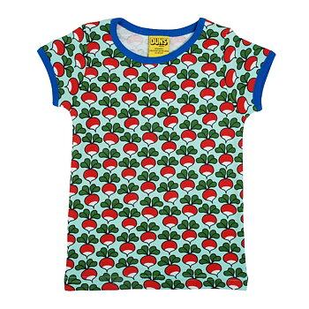 Turkos t-shirt med rädisor - Duns