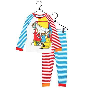 Tvådelad randig pyjamas - Pippi Långstrump