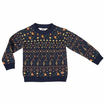 Stickad sweater flerfärgad - Ebbe