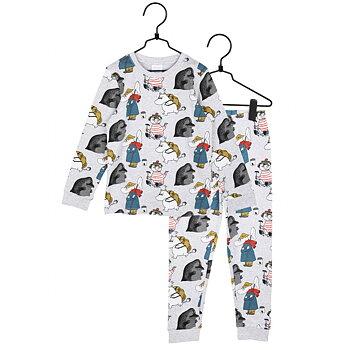 Tvådelad pyjamas grå - Mumin