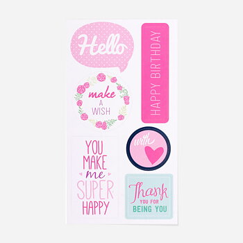 Greeting stickers 12- pack