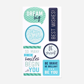 Greeting stickers 12-pack