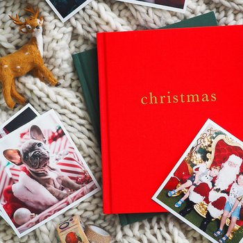 Bok Christmas Röd