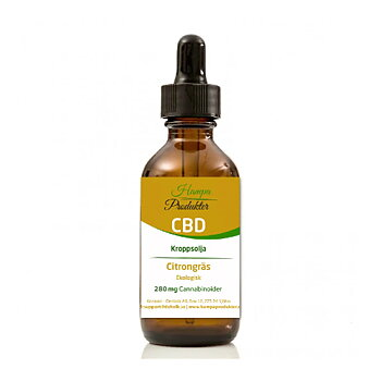 Kroppsolja CBD 3% Citrongräs 10ml