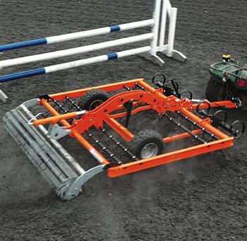 Ridbaneharv ATV Chapman AH200 med elektrisk justering av harv djup och transportläge (fibersand, sand, kvarts, ) (FRI frakt)