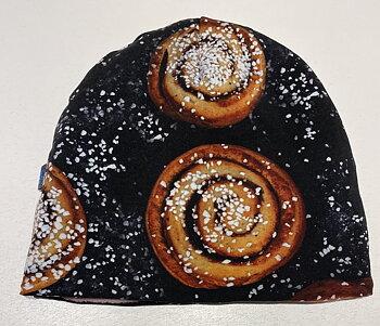 Mössa Kanelbullar & Pärlsocker svart, 54/56