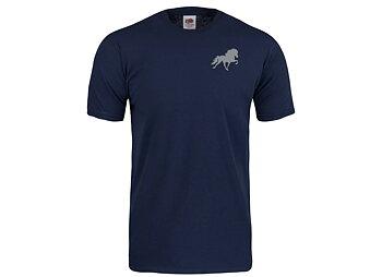 Marinblå T-shirt med islandshästsiluett