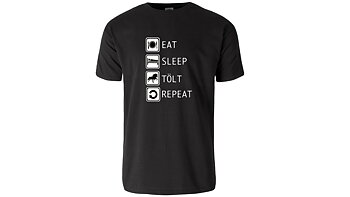 Eat, sleep, tölt, repeat - Kortärmad T-shirt