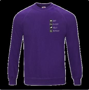 Eat, sleep, tölt, repeat  -  sweatshirt