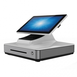 Elo PayPoint Plus, 39.6 cm (15,6''), Projected Capacitive, SSD, Scanner, Android, white
