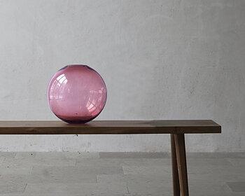 TÅNGEN  Ros glasklot 30 cm