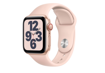 Apple Watch SE 4G 40mm Aluminium with Sport Band - Guld/Rosa