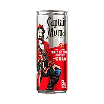Captain Morgan Spiced Gold & Cola, 6.4%, 12 x 25 cl  (burkar)