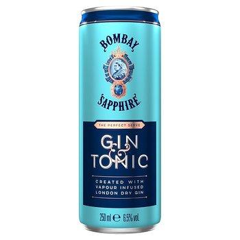 Bombay Sapphire Gin & Tonic, 6.5%, 12 x 25 cl  (burkar)