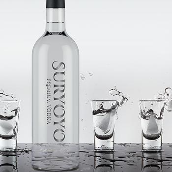 Sex flaskor Suryoyo Premium Vodka, 6 x 70 cl