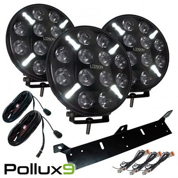 3st Pollux9 Trinity LED-extraljuspaket (12 V)