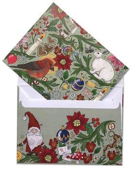 Dubbelvikt kort med kuvert - Julgranen