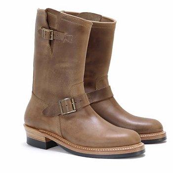 John Lofgren Engineer Boots - Natural Horween CXL