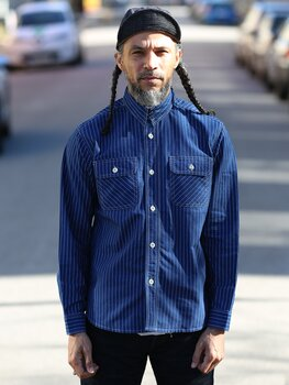 Trophy Clothing - Deluxe Wabash Shirt - Indigo