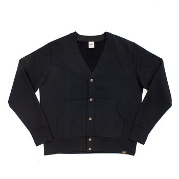 Iron Heart - 14oz Ultra Heavyweight Loopwheel Cardigan – Black